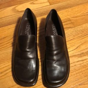Womens Franco Sarto sz 11M Brown, leather loafers.